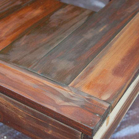 To restore timber furniture previously treated with a Woodoc product rub it down thoroughly with Woodoc Steel Wool and mineral turpentine.
