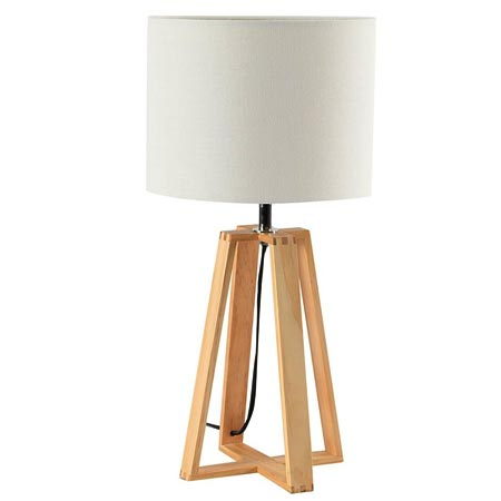 HOME-DZINE | Modern Floor Lamps - Table Lamp with Wooden Base @ R499 from Mr Price Home