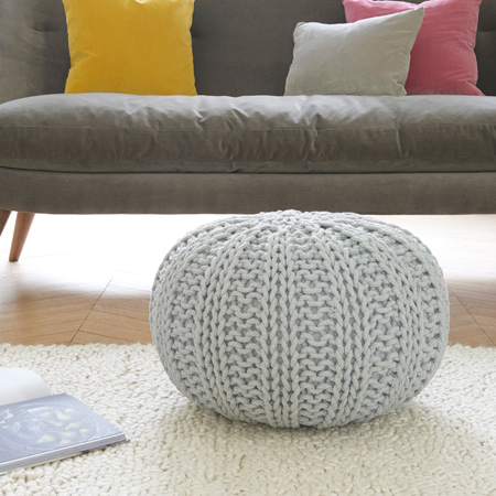 For the more advanced knitter, you can experiment with different patterns to create your own unique knitted pouffe. Choose yarn colours that complement the decor in your home, or add a bold splash of colour.
