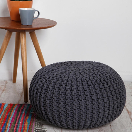 Make a Knitted Pouffe