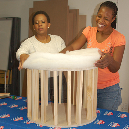 Make a circular ottoman - nancy muchangwa