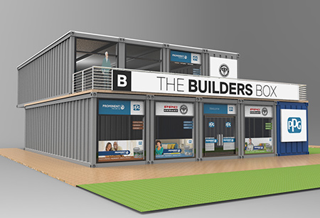 BuildersBox - a double-story specialised paint store in an adapted steel shipping container - has opened its doors in Jabulani in Soweto.