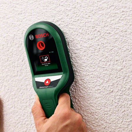 GOOD TO KNOW: Before drilling into walls use a Digital Detector