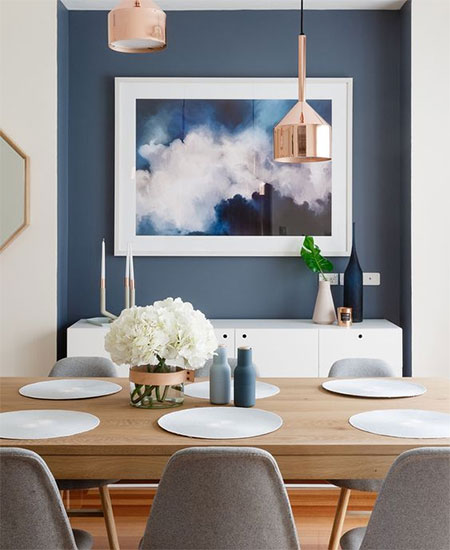 HOME-DZINE | Home for the Holidays - If you feel that painting an entire room is out of the question, why not paint one wall and make it a stand-out feature. It's far less time consuming than painting an entire room and will have the same effect at giving a room a fresh, new look.