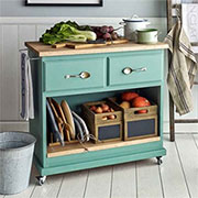 Turn a pine dresser into a kitchen island