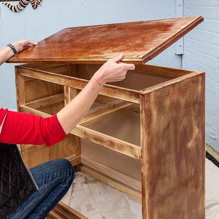 Home Dzine Kitchen Turn A Pine Dresser Into A Kitchen Island