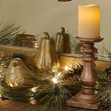 HOME-DZINE | Rust-Oleum Crafts - It's so easy to deck your home with a touch of gold using items you may already have lying around. All you need is a can or two of Rust-Oleum spray paint to add festive flair to a shelf or mantel.