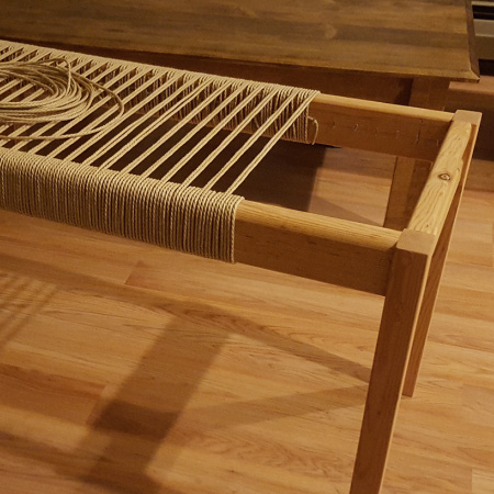 Home Dzine Craft Ideas Weaving A Bench Seat