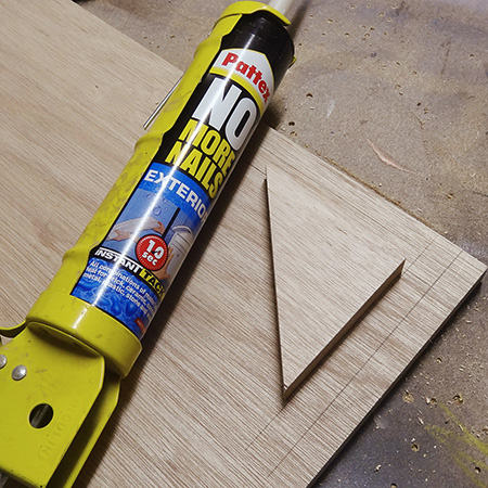 HOME-DZINE | DIY Tips - Pattex No More Nails offers high-tack and fast drying, but it isn't absorbed deeply into timber or board and should not be used for joints that need to bear weight.