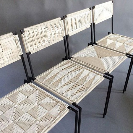 HOME-DZINE | Ideas for weaving with Danish Cord - modern chairs