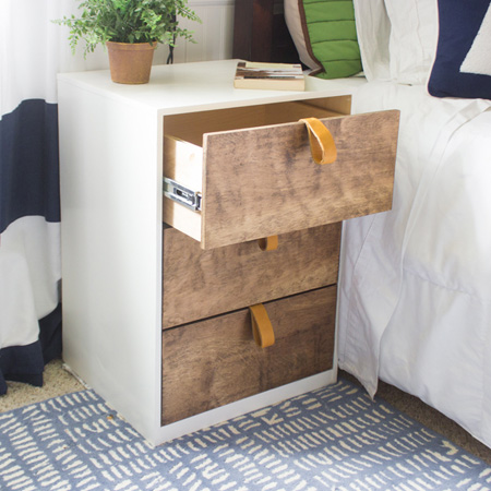 HOME-DZINE | DIY Projects - Use 16mm SupaWood and pine plywood, as well as a Kreg pocket hole jig, to make a modern nightstand for your bedroom.
