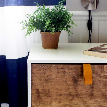 HOME-DZINE | DIY Projects - There are various options for finishing the nightstand. You can apply either acrylic or chalk paint with a paintbrush or Bosch PFS spray system, and stain the drawers with Woodoc Gel Stain or a Woodoc 5, 10 or 20 tinted or clear interior sealer.