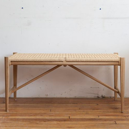 HOME-DZINE | Ideas for weaving with Danish Cord - modern bench