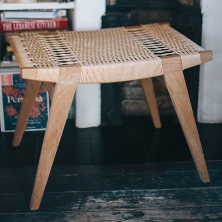 Weaving a bench seat
