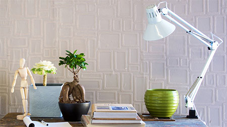 HOME-DZINE | Decorating Ideas - paintable wallpaper gives you an easy way to create a stunning feature wall.