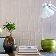 Paintable wallpaper feature wall