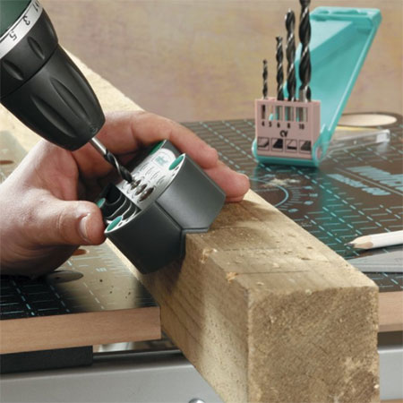 HOME-DZINE | Tools on Special - Wolfcraft Accumobil Drill Guide for drilling rectangular holes in a speedy and simple way