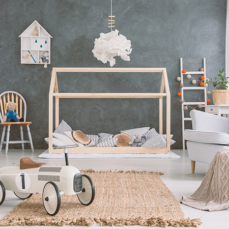 HOME-DZINE | Childrens Furniture - Design-A-Bed childrens house frame bed for little boy or little girl