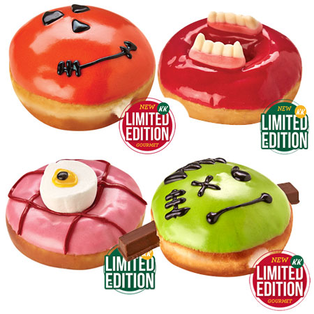 HOME-DZINE | Halloween Crafts - Get the celebrations in full swing with a selection of Halloween doughnuts from Krispy Kreme - now in South Africa at select venues. The kids will love the skreme themes for Halloween!