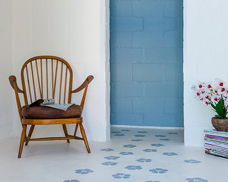 HOME-DZINE | Chalk Paint - Use chalk paint to paint a floor with a unique finish with your own desired pattern. You can leave natural or apply a clear coat finish.