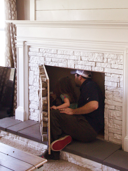 Home Dzine Home Diy Diy Faux Fireplace