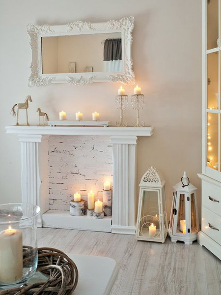 HOME-DZINE - Faux Fireplace Ideas - There are so many online ideas for making a faux fireplace, from a basic frame to wonderfully detailed pieces. With the right tools and materials and a bit of DIY savvy you can quite easily make your own faux fireplace.