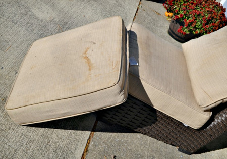 home dzine cleaning tips not all cushions for patio furniture are fitted with - How To Clean Patio Cushions