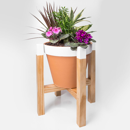 DIY wooden plant stand