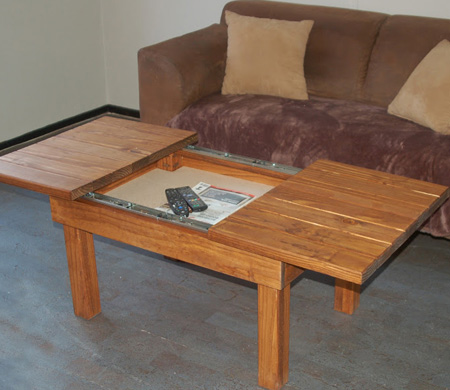 Home Dzine Home Diy Coffee Table With Storage Compartment