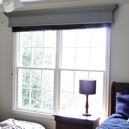 Here's an easy DIY way to add architectural detail to a plain window