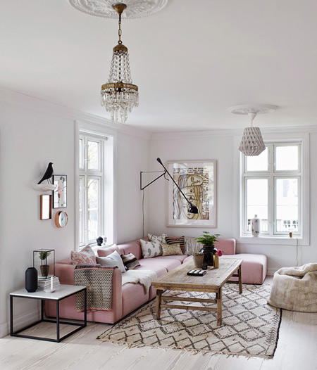 HOME-DZINE | Spring and Summer Trends - blush pink is not a bold, brash or girly shade of pink