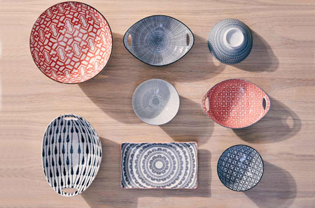 HOME-DZINE | Spring and Summer Trends - From cushions to table settings, intricate geometric patterns inspire you to spice up your living rooms with bold accessories