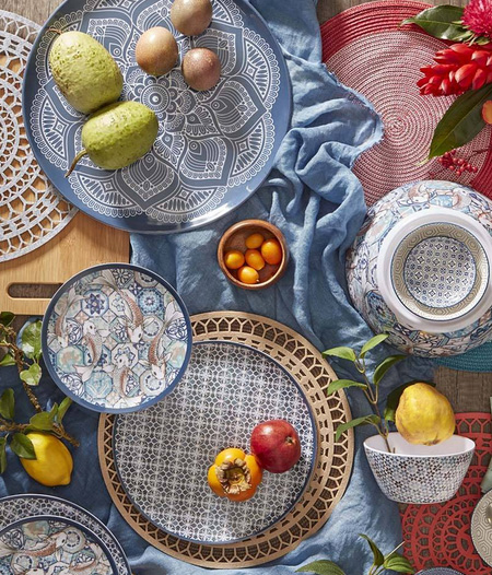 HOME-DZINE | Spring and Summer Trends - This season's accessories for a dining table - indoor or outdoor - are anything but plain