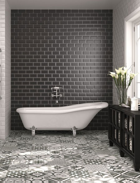 Clic Black White Bathrooms