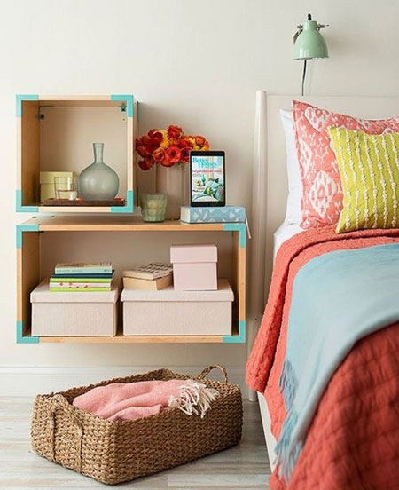 HOME-DZINE | Bedroom Ideas - Make your own bedside cabinets using 16mm SupaWood, plywood or laminated pine shelving - all of which you will find at your local Builders Warehouse. Find step-by-step tutorials is our Bedroom Craft section.