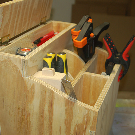 HOME-DZINE | DIY Projects - The finger joints used to assemble the tool caddy provide a dovetail effect and add to the overall finished design.