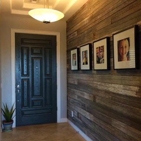 HOME-DZINE | Feature Wall Ideas - Using reclaimed materials is definitely an inexpensive way to add a feature wall to any room in a home. While this wood can be sourced for very little - or no - cost, it does take time to prepare to a condition suitable for mounting onto walls.