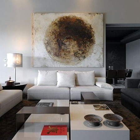 HOME-DZINE | Feature Wall Ideas - One of the easiest ways to add interest to a wall is to add large format artwork. This doesn't necessarily have to be expensive pieces, unless you collect these, and can be your own works of art, or artwork created by a friend or acquaintance.
