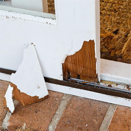 Home dzine home diy repair timber sliding door - Refinishing damaged wood exterior doors ...
