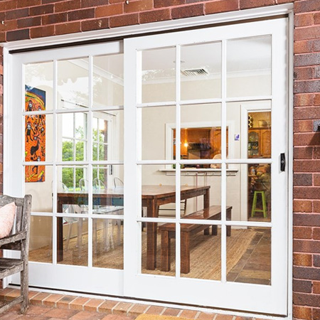Repair timber sliding door