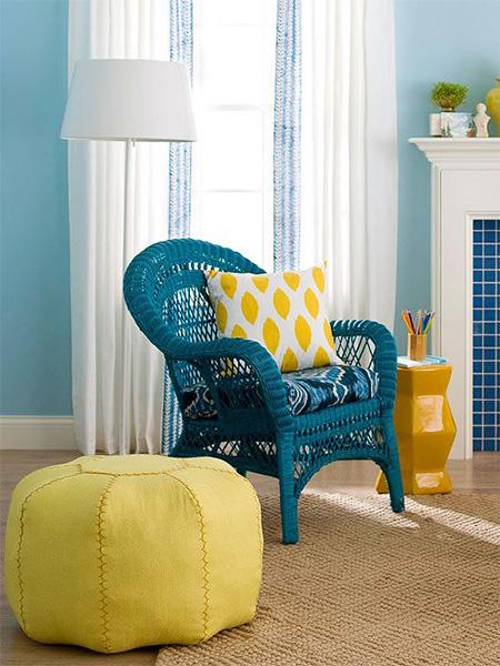 HOME DZINE Craft Ideas   Update cane or wicker furniture