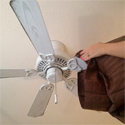 Clean ceiling fan blades