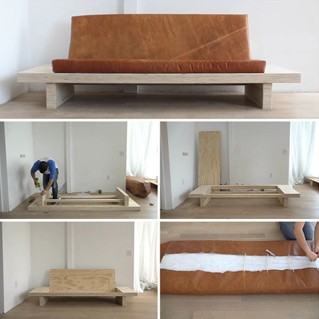 HOME-DZINE | DIY Sofa - Plywood is a great material to work with if you want to make your own affordable sofa. You can choose pine plywood, or opt for more expensive birch- or maple-faced plywood - or you could make an outdoor sofa using marine plywood.