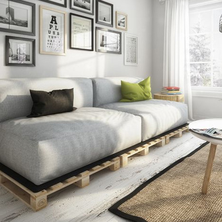 HOME-DZINE | DIY Sofa - Now that you've seen how easy it is to make your own DIY Sofa, what's stopping you!