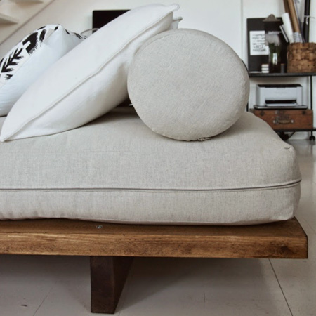 HOME-DZINE | DIY Furniture Ideas - Layer your new DIY Day Bed with assorted cushions and pillows.