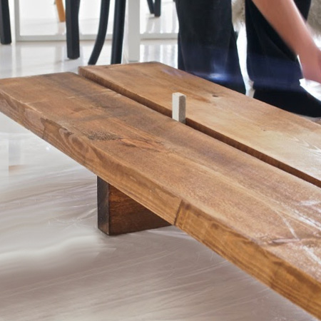 HOME-DZINE | DIY Furniture Ideas - To make your own DIY Day Bed, pop into Builders Warehouse or timber merchant and ask for scaffolding planks - or planks 50mm thick x 200mm wide. These are available unfinished and rough-cut, so you will need to sand them, but they look beautiful when stained and waxed.