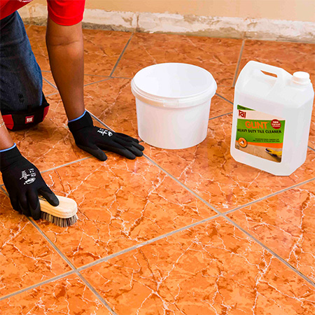 HOME-DZINE | Tiling Tips - Tiles need to be scrubbed thoroughly to ensure they are absolutely clean. Any surface contaminants on the tiles will impair the bond between old and new tile. TAL Glint  is a heavy-duty tile cleaner that removes grease, oil and wax deposits from glazed tiles.