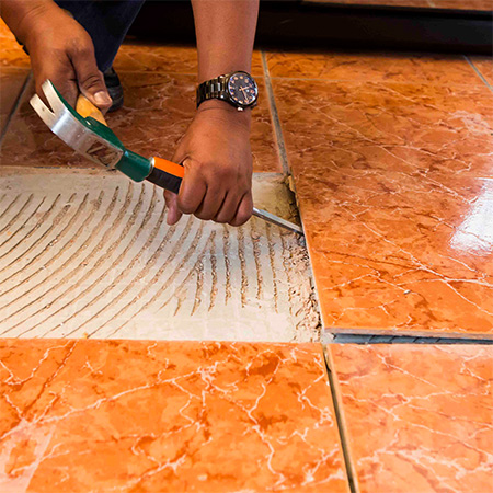 HOME-DZINE | Tiling Tips - Use a hammer and cold chisel, or large screwdriver, to remove any cracked, broken or hollow-sounding tiles.