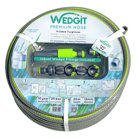 Wedgit - the toughest leak-free garden system