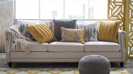 When buying furniture for your home, a neutral sofa allows you the freedom to use affordable accessories to style the sofa in so many different ways.